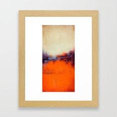 Orange and White Framed Art Print
