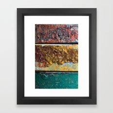 Rusty Flag Framed Art Print