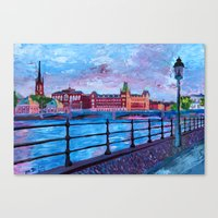 Stockholm City View - Ol… Canvas Print