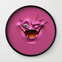 Winking face Wall Clock