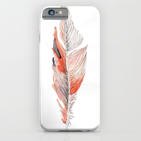 Orange Feather iPhone & iPod Case