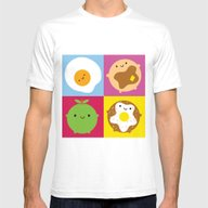 Kawaii Breakfast Mens Fitted Tee White SMALL