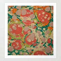 Marble Print #1 Art Print