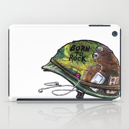 """Born to Rock"" by Cap Blackard iPad Case"