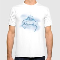 UFO III Mens Fitted Tee White SMALL