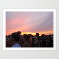 Love Like A Sunset Art Print