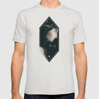 Shining Stars Mens Fitted Tee Silver SMALL