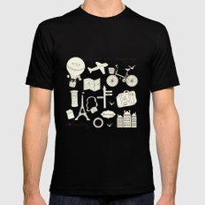 I {❤} Travel Black SMALL Mens Fitted Tee