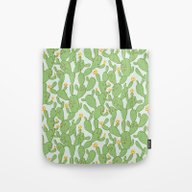 Tote Bag featuring Happy Cactus   Pattern by Marie Gardeski