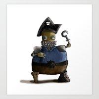 Iso, the Fat Captain Art Print