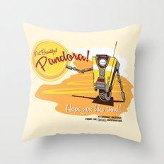 Visit Pandora! Throw Pillow
