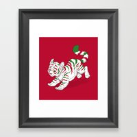 Candy Tiger Framed Art Print