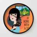 With a Cat Wall Clock