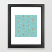 Ammonite Pattern Framed Art Print