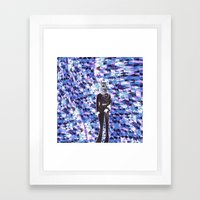 General Gears on blue Framed Art Print