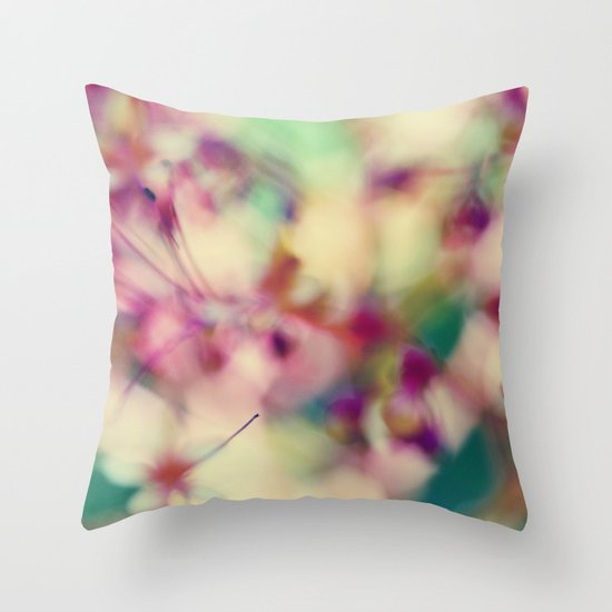 Abstract Spring Throw Pillow