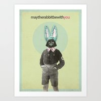 May The Rabbit Be With Y… Art Print