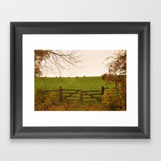 Sunshine on the Pasture Gate Framed Art Print