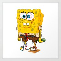 SpongeSlob DirtyPants Art Print