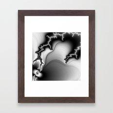 Black and White Fractal 3 Framed Art Print