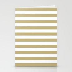 Horizontal Stripes (Sand/White) Stationery Cards