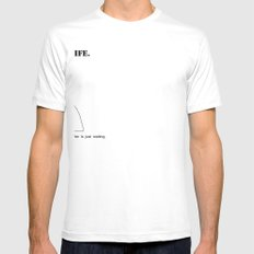 Don't Wait White Mens Fitted Tee SMALL