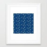 bunny hop Framed Art Print