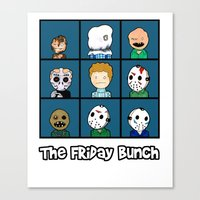 The Friday Bunch Canvas Print