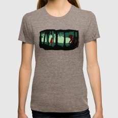 Little Red Riding Hood - Revenge Womens Fitted Tee Tri-Coffee SMALL