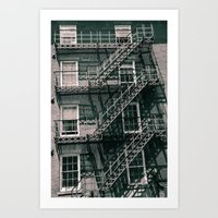 Ladders Galore Art Print
