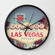 Welcome To Fabulous Las … Wall Clock