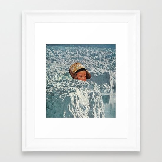a place to hide away Framed Art Print