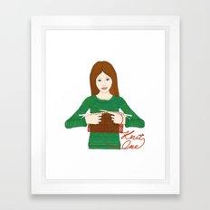 Knit One Framed Art Print