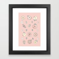 Flores Framed Art Print