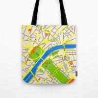 Paris map design Tote Bag