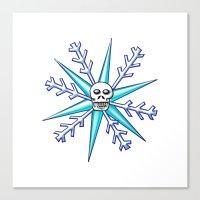 Skullflake Canvas Print