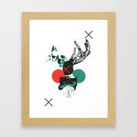 Girl With Horns Framed Art Print