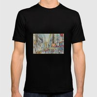 Broadway,  New York - Five O'Clock Revised Mens Fitted Tee Black SMALL