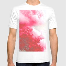 Pink Explosion Mens Fitted Tee SMALL White