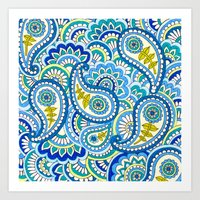 Paisley Puzzle Art Print
