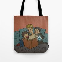 Bedtime for Peter and Tony Tote Bag