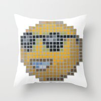 Emoticon Cool Throw Pillow