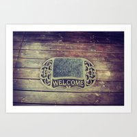 Welcome. Art Print