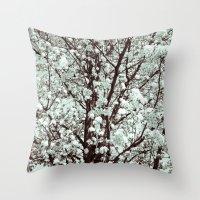 Winter Petals Throw Pillow
