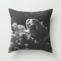 Clouds B&W Vo1 Throw Pillow