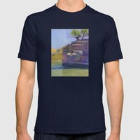 River Bend Mens Fitted Tee Navy SMALL