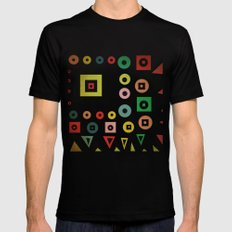 mixed shapes Black SMALL Mens Fitted Tee