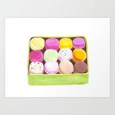 Macarons Art Print