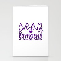 Adam Levine Is My Boyfriend ❤ Stationery Cards