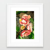 Flower Mixed-Media Framed Art Print